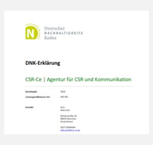 DNK-Erklärung 2018 von CSR-Ce